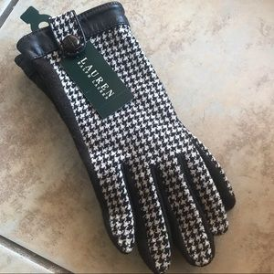 NWT Ralph Lauren Houndstooth Gloves